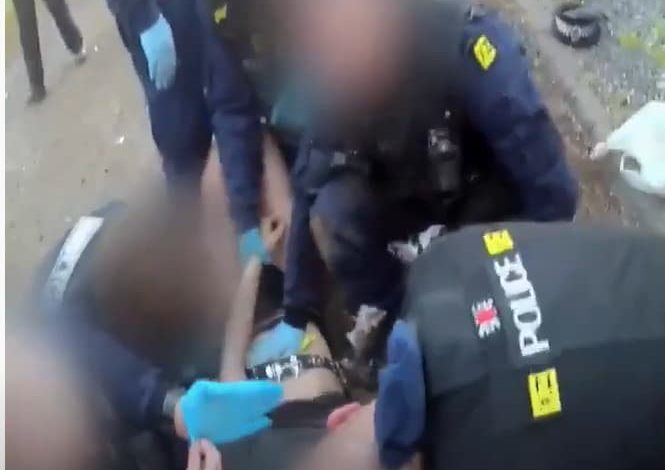 Police have released footage of an illegal party in Carrington at the weekend