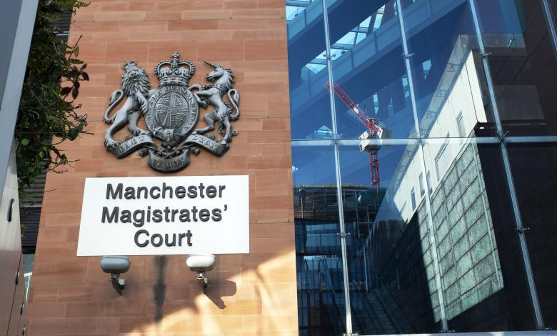 According to Manchester Magistrates Court heard, before threatening Smith, Widned said, 'call the police before something happens.'