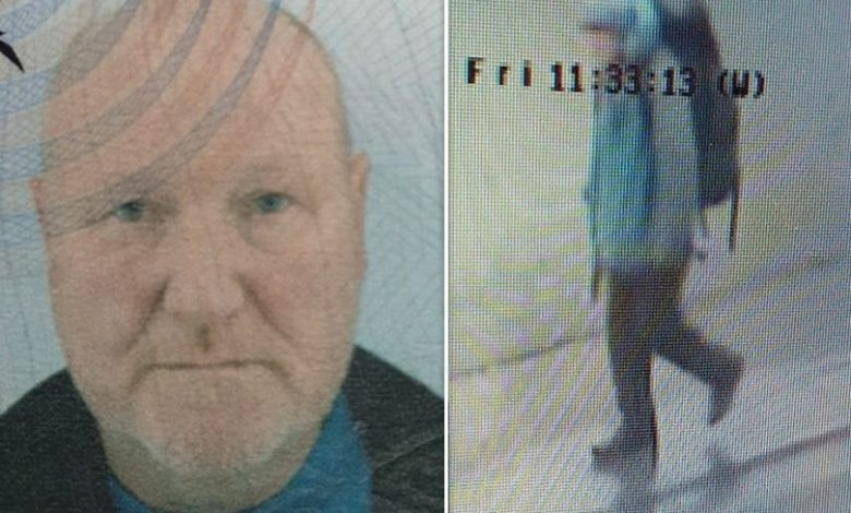 Police are searching for the missing man in the CCTV image.
