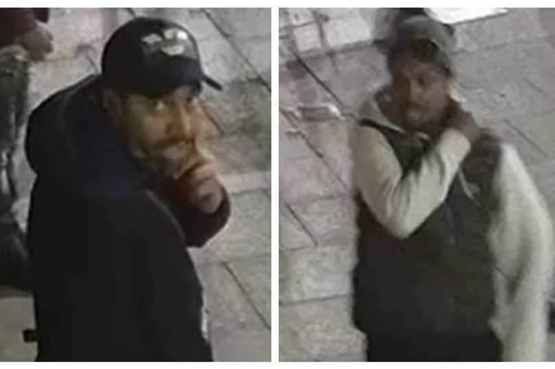 Police 'are keen' to speak to two men in the CCTV image