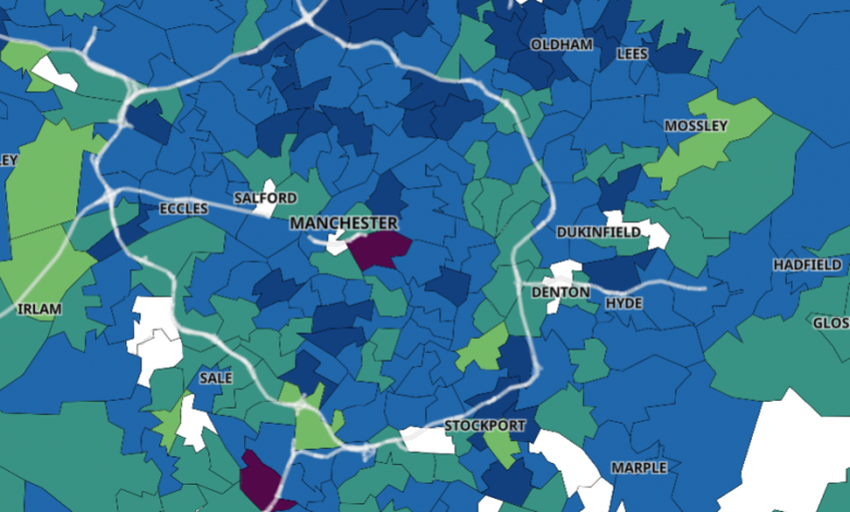 Manchester Covid Map 09/12/2020