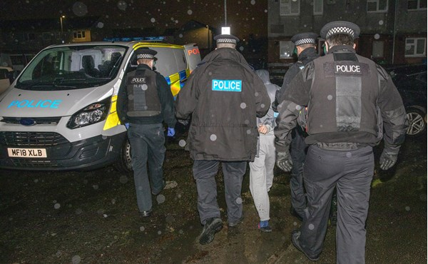 Three arrested after Op Haemus morning raids in Cheetham Hill